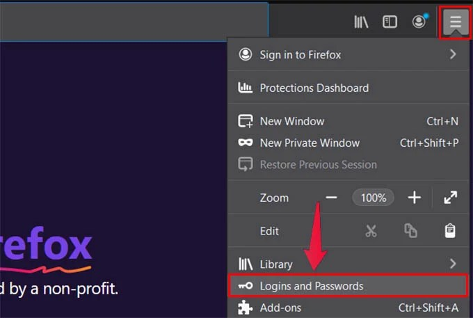 Find Saved Passwords in Firefox on Chrome