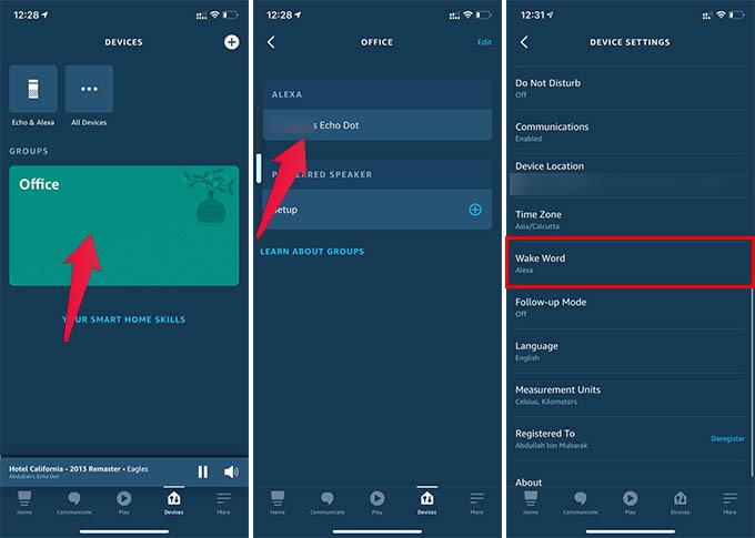 Change Alexa Wake Word for Amazon Echo Dot