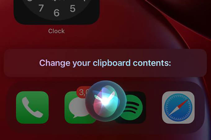 Change iPhone Clipboard Contents Using Siri