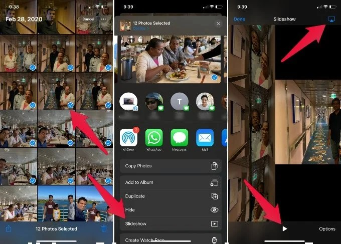 Create Slideshow for iPhone Photo