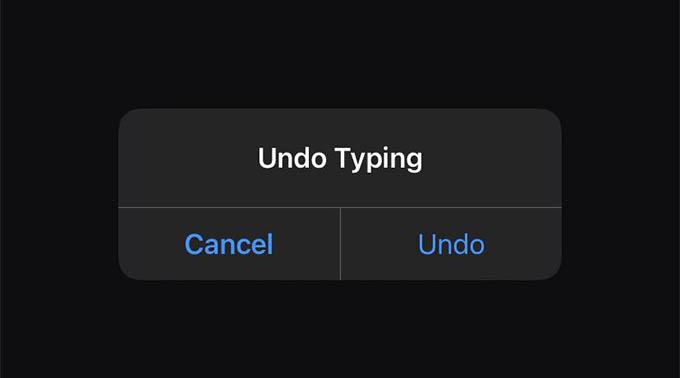Undo Typing on iPhone