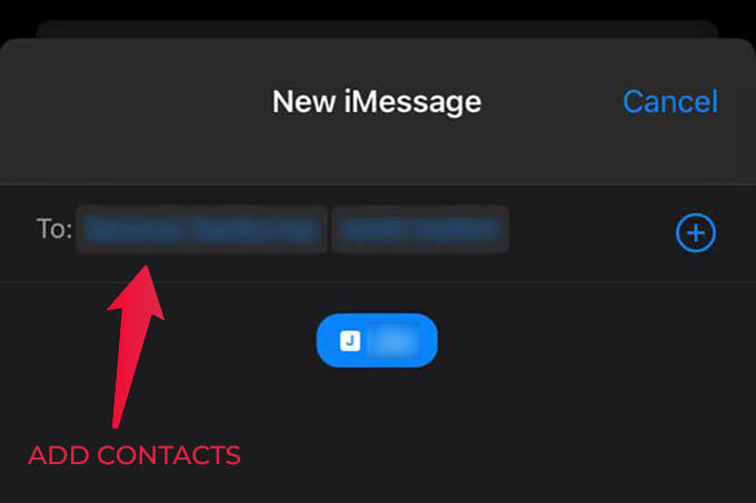 Add Contacts to New Conversation in iMessage