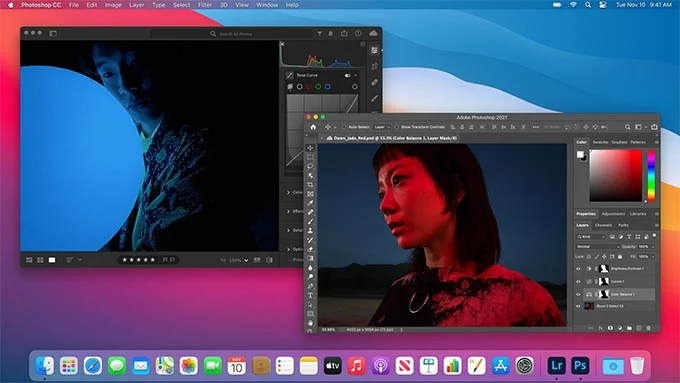 Adobe Photoshop CC on MacBook Air M1 and MacBook Pro M1