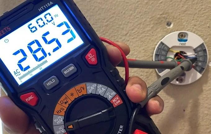 Nest Thermostat RH Wire Voltage