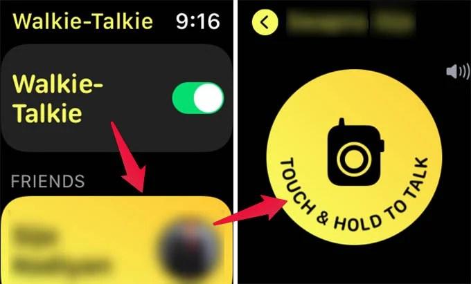 Talk Using Apple Watch Walkie Talkie