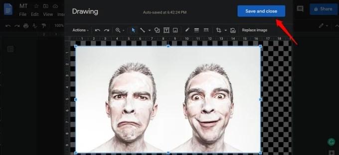 horizontal image flip google docs