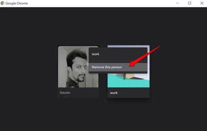 delete chrome profile