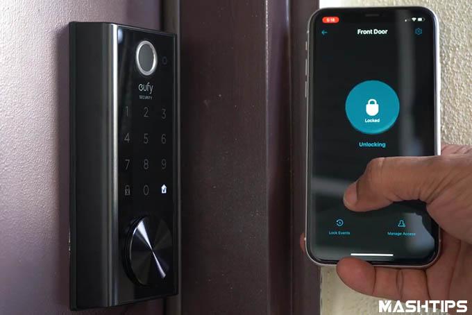 App Unlocking Eufy Smart WiFi Lock