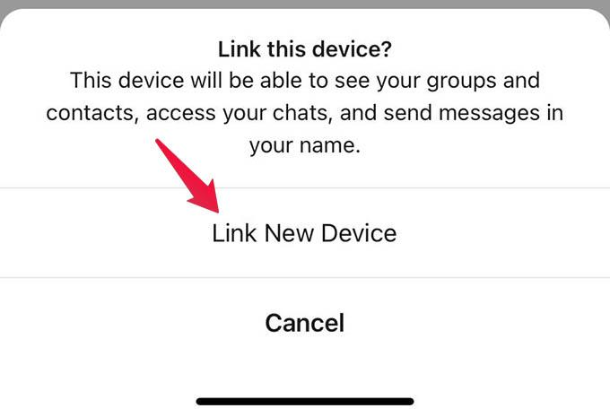 Link Signal Desktop from Signal App