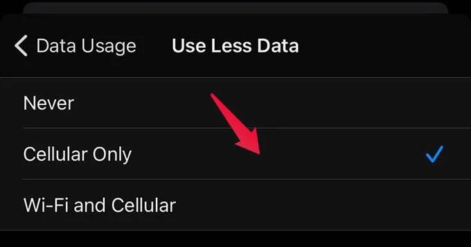 Cellular Data Saver Signal Calls
