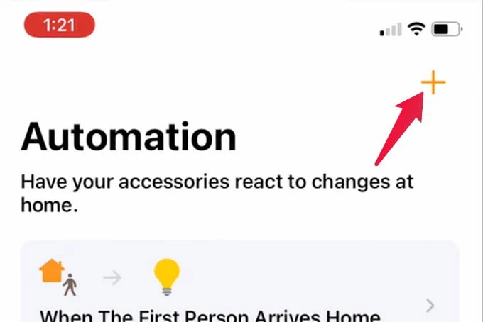 Create New Automation for HomePod mini in HomeKit