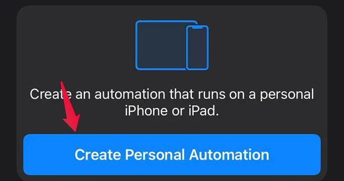 Create Personal Automation on iPhone