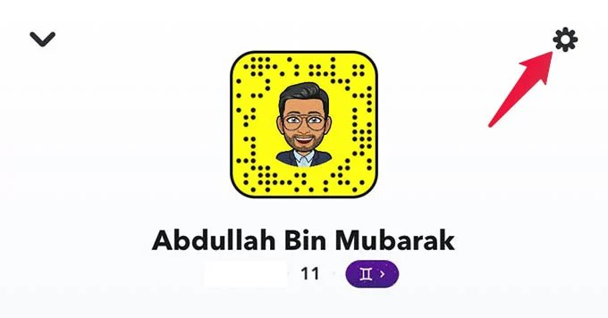 Go to Snapchat Settings
