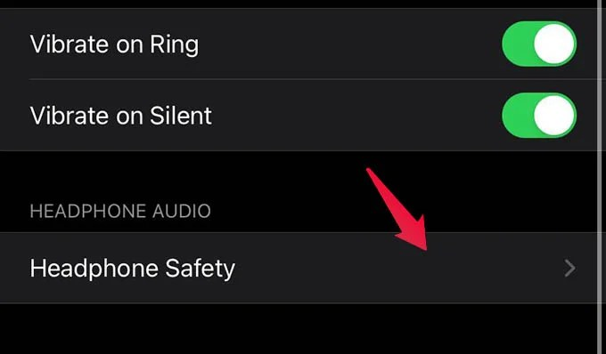 Headphone Safety Settings on iPhone