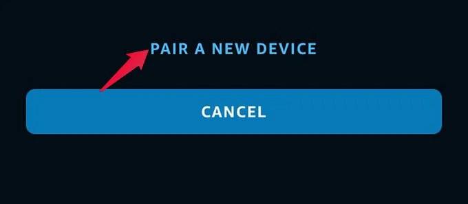 Pair New Device on Alexa