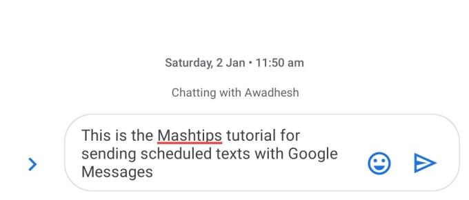 Type scheduled text message