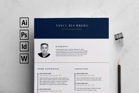 25  Best Free Indesign Resume Templates  Updated 2018  free indesign resume templates
