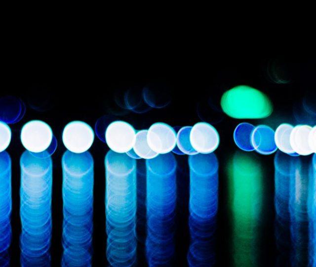 Neon Blue Green Lights