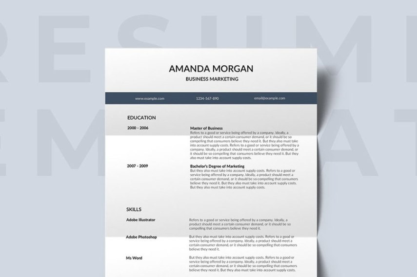 75  Best Free Resume Templates for 2018  Updated  free professional resume template