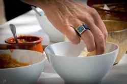 Degustación en el concurso de salsas