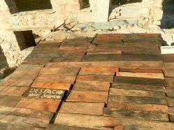 Cubierta con tablones de madera