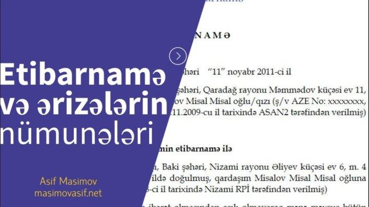 Etibarnamə və ərizələrin nümunələri — Almaniya