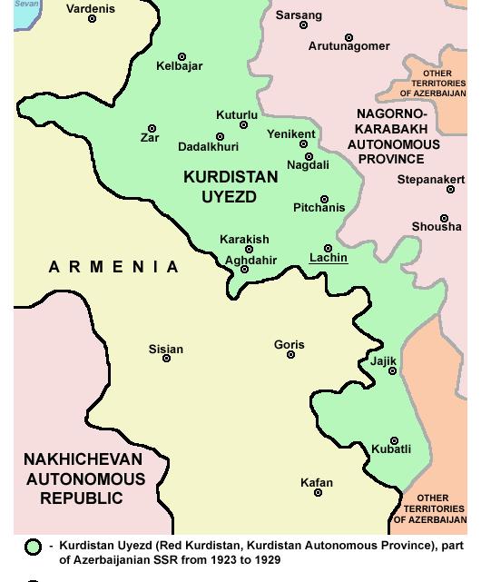 Красный Курдистан и курды Азербайджана