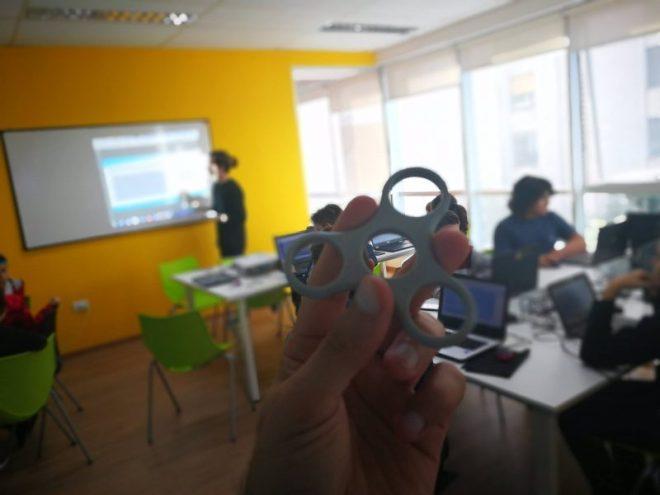 Modelado 3D de Fidget Spinner #BahíaEmprende