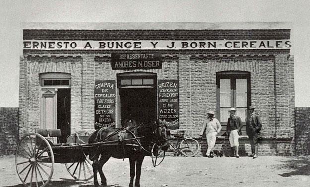 Bunge y Born en Argentina, 1884.