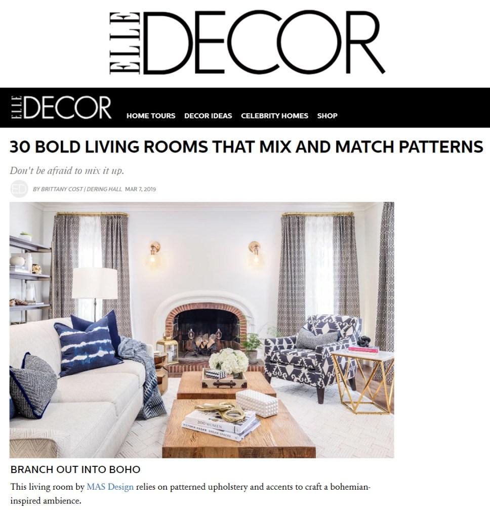 . MAS Design  2019 Elle Decor   MAS Design   Interior Design in