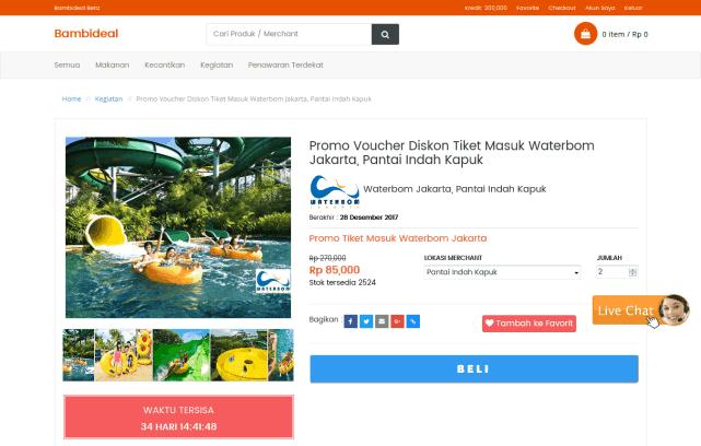 promo bambideal, promo pantai indah kapuk, waterboom jakarta, waterbom bali
