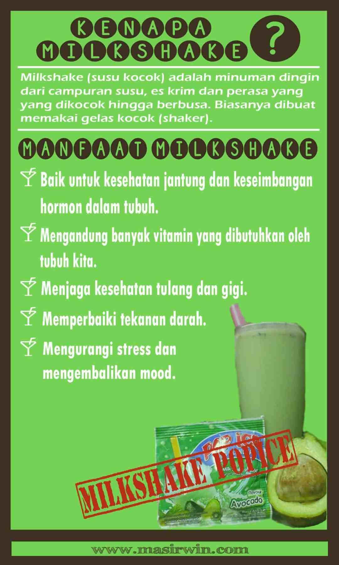 kenapa milkshake, perbedaan milkshake dan smootie, manfaat milkshake,khasiat milkshake, milkshake pop ice, milkshake adalah