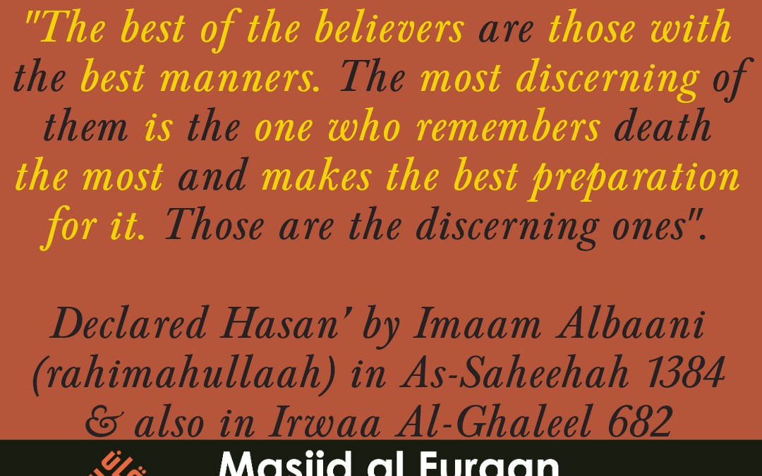 The best of the believers are those…