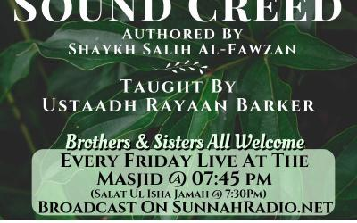 A Guide to Sound Creed – Authored by Shaykh Salih al-Fawzan | Rayaan Barker