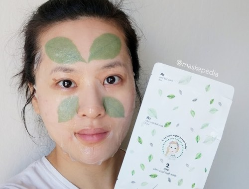 A. by Bom Super Power Baby 2 Step Ultra Cool Leaf Mask