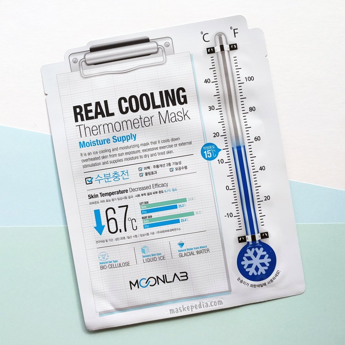 Moonlab Real Cooling Thermometer Mask Moisture Supply