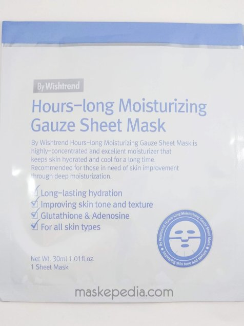 By Wishtrend Hours-Long Moisturizing Gauze Sheet Mask (New Version)