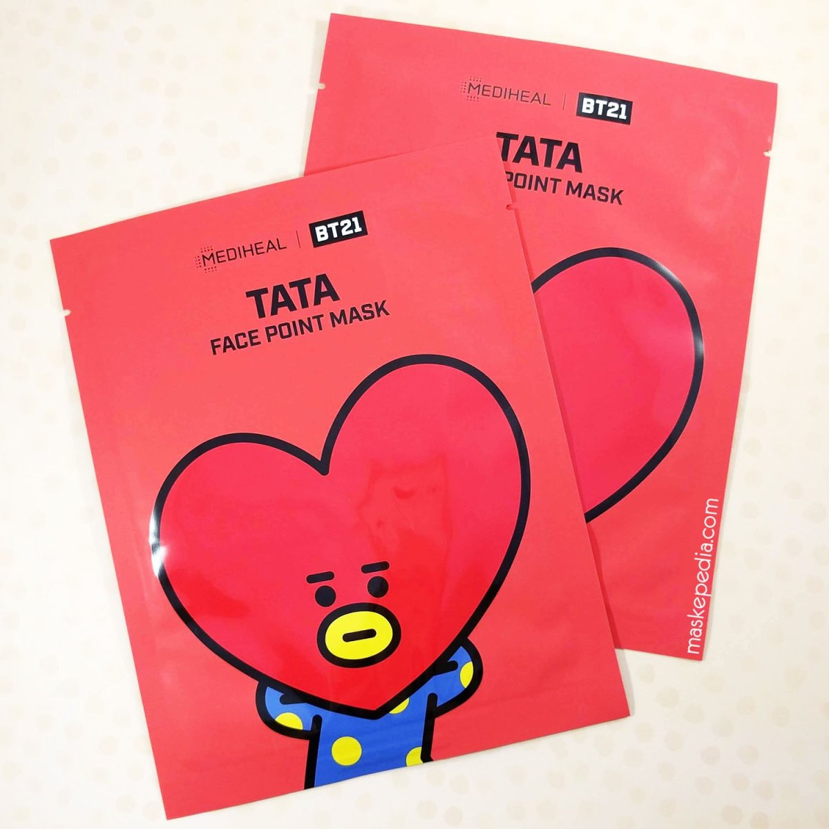 Review: Mediheal BT21 Face Point Mask - Tata ★★★.☆