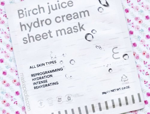 E Nature Birch Juice Hydro Cream Sheet Mask