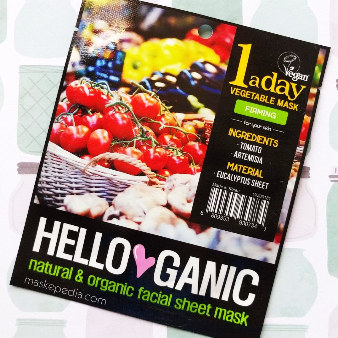 Helloganic One a Day Vegetable Sheet Mask - Firming