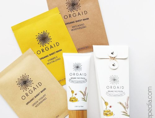 Orgaid Vitamin C Revitalizing Sheet Mask + Face Polish