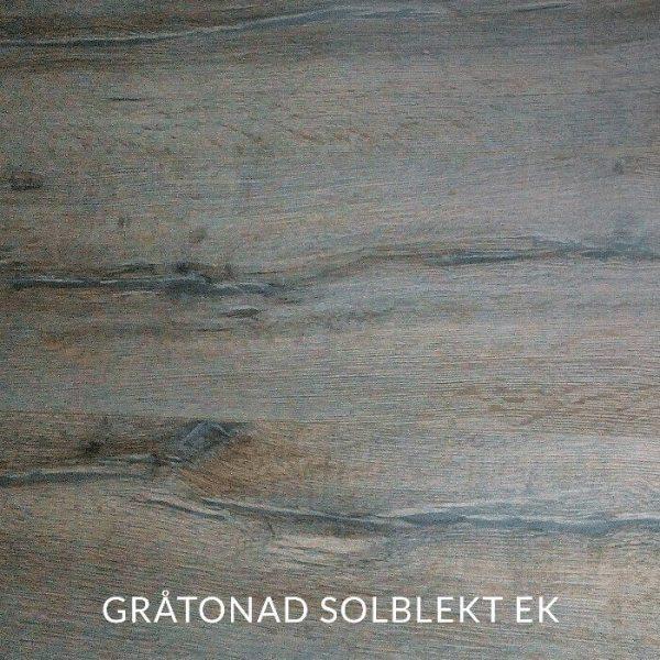 Träprov av gråtonad solblekt ek