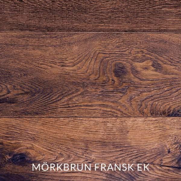 Träprov av mörkbrun fransk ek