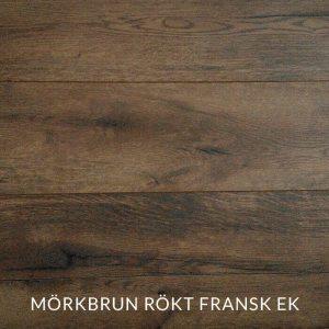 Träprov av mörkbrun rökt fransk ek