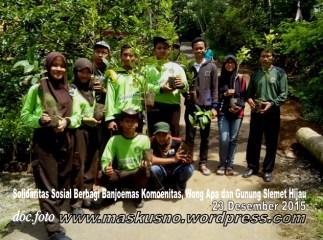 Solidaritas Sosial Berbagi Peduli bersama Banjoemas Komounita-Gunung Slamet Hijau Desa Baseh dan Wong APA (11c)