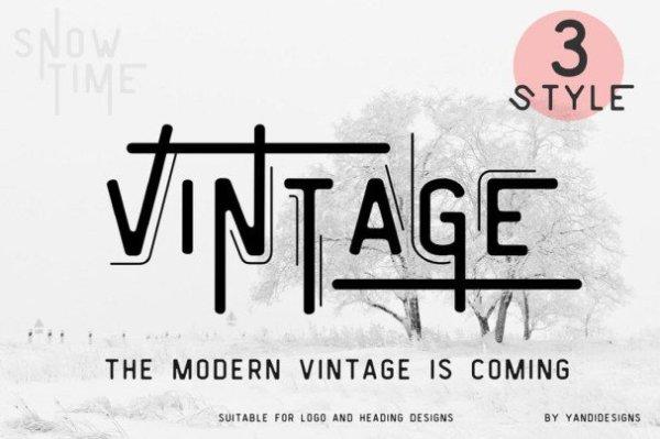 Font Vintage Modern