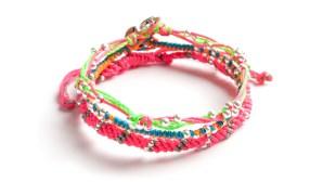 3-pack, armband, blå, färgglad, grön, Guatemala, konsthantverk, orange, Planets, rosa, rymden, silver, smycke, Wakami