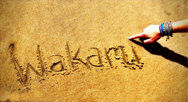 Wakami on the Beach