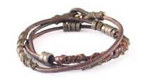 Wakami Elements of Life: Fire Bracelet WA0394, armband, Fair Trade, läder, metall