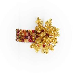 Guate!Guate Pyro guld/röd ring MoM12-GUR, Guatemala, konsthantverk, Pyro, smycke